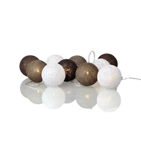 Cotton Ball kulki łańcuch świetlny Twix MARKSLOJD