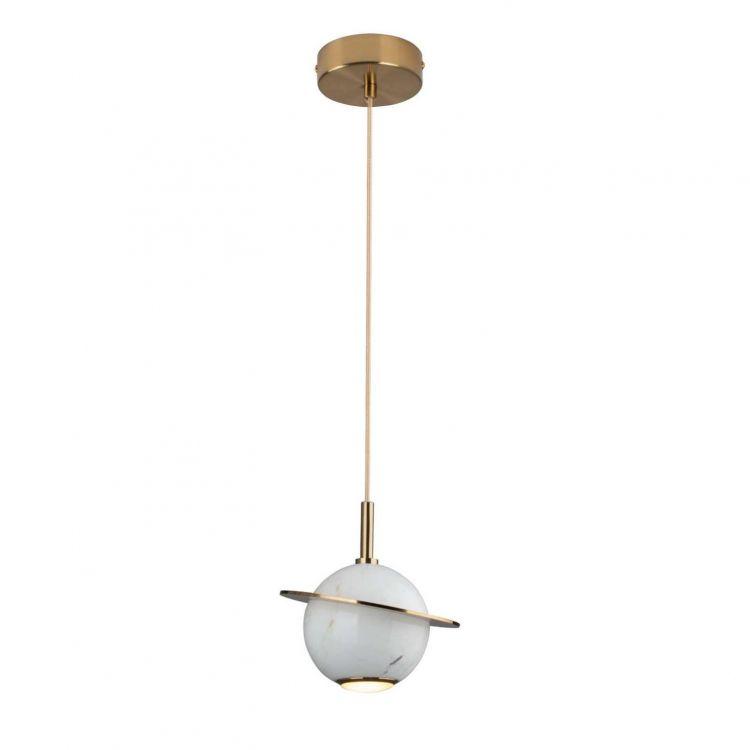 lampa wisząca biała/złota Uranos MAXlight