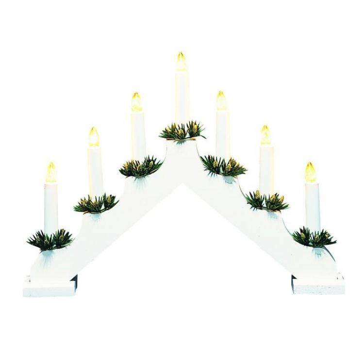 Ola 7 Candlestick świecznik 7x3W E10 biały