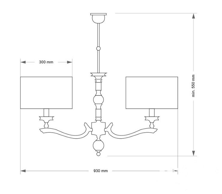 Tivoli oprawa wisząca 2xe14/60w  nikiel/beż