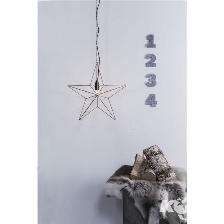 Tjusa dekoracja wisząca gwiazda 1x25W E14 230V miedź