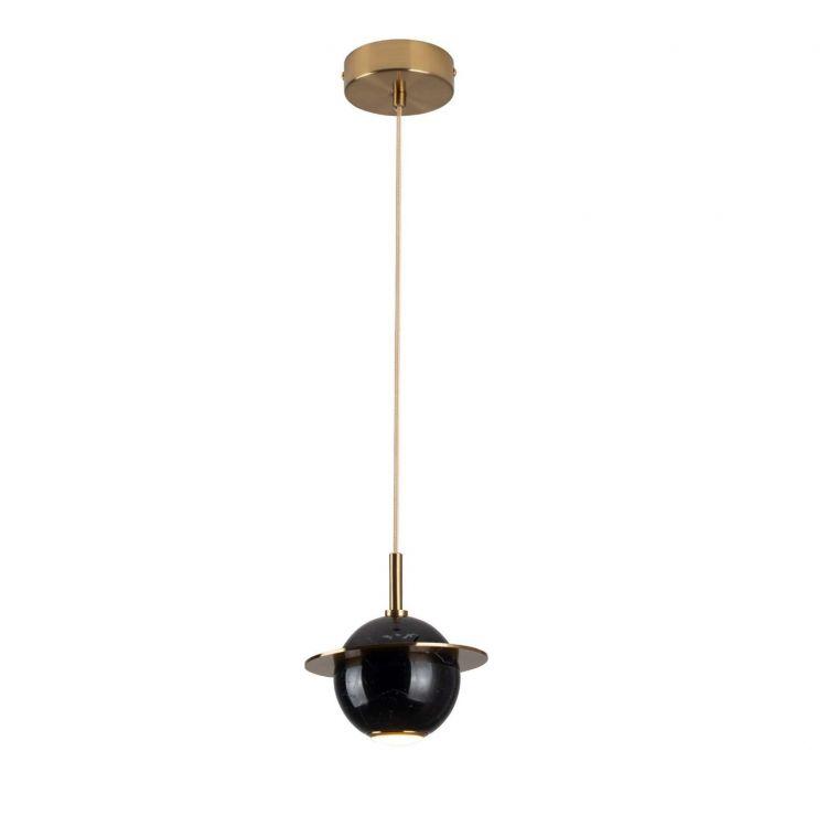 lampa wisząca czarna/złota Uranos MAXlight