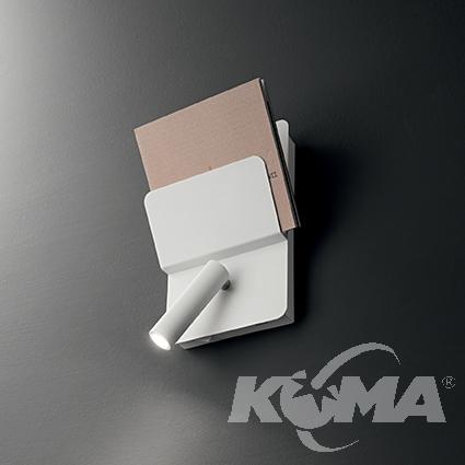 Read kinkiet reflektor z półką 3W LED 230V biały