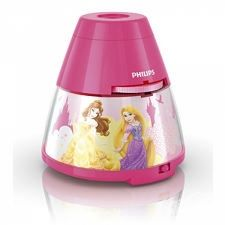 DISNEY Princess lamka nocna led 1x0,1W +3x0,3w