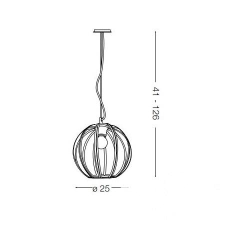Rondo lampa wisząca 25cm 1x60W E27 230V stare złoto