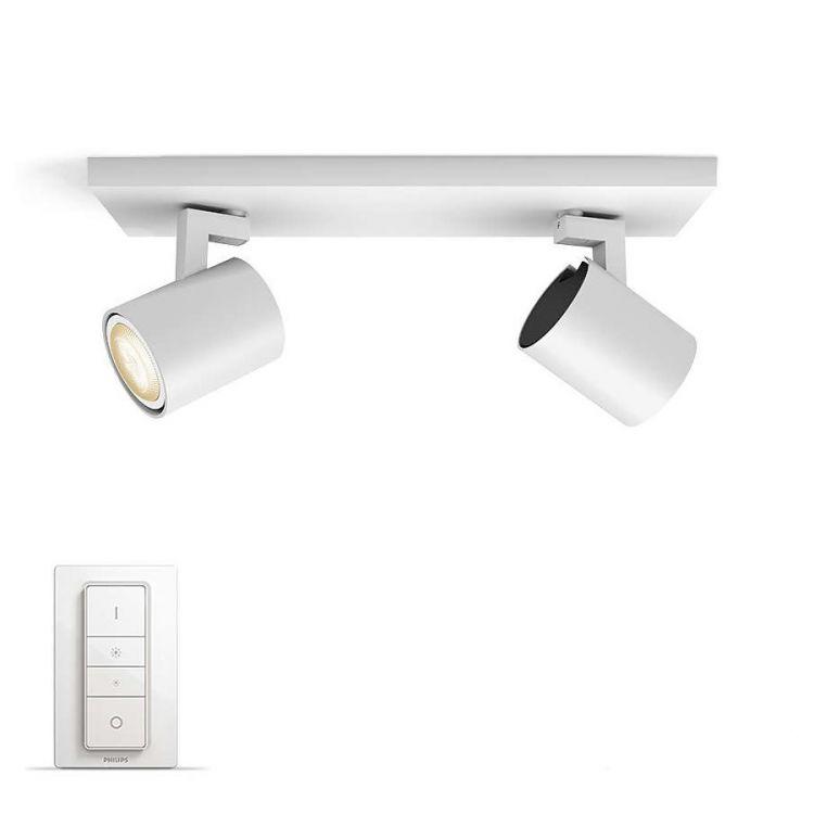 Runner Hue reflektor 2x50W GU10 230V biały + ściemniacz