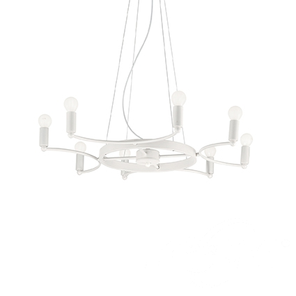 Space lampa wisząca żyrandol 8x40W E14 230V biała