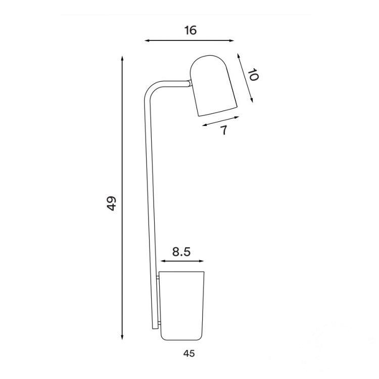 Buddy lampa stołowa 1x9W GU10 230V biała