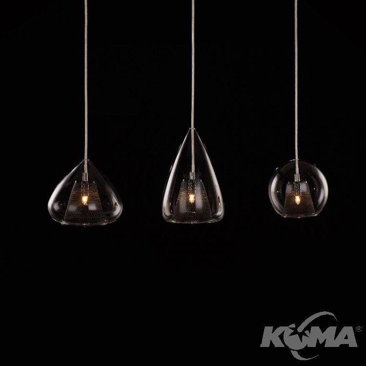 Gordon Lampa Wisząca 3x33w G9 230v Czarna Transparentne