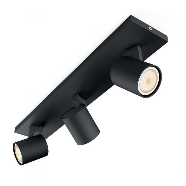 Runner Hue listwa sufitowa-reflektor 3x50W GU10 230V czarny + ściemniacz