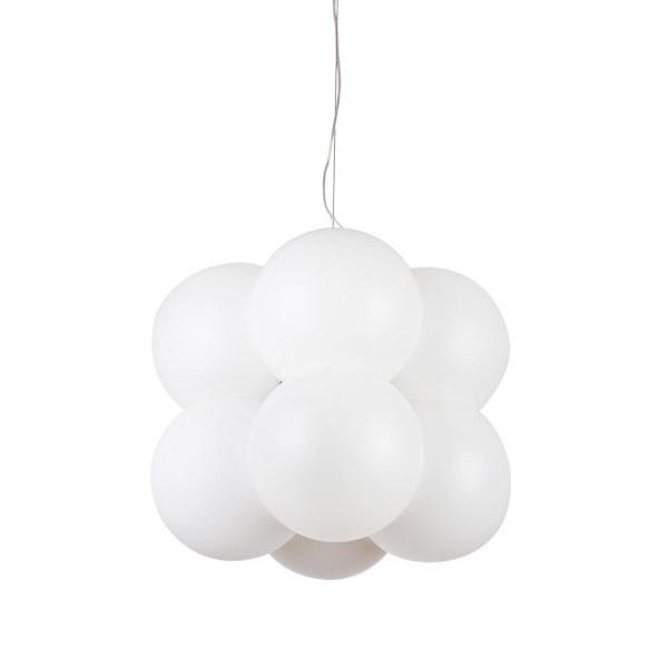 Aris lampa wisząca 8x10W E27 230V biała