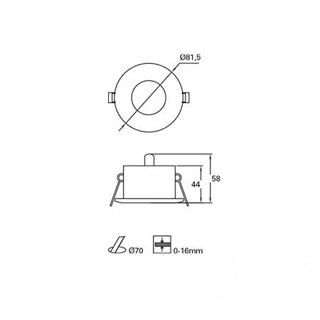 oprawa wpuszczana łazienkowa Minor LEDS