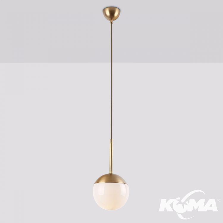 Dallas lampa wisząca 1x40W E14 230V złota
