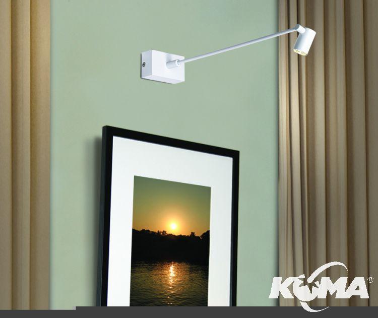 Pirius kinkiet 15cm. 3,5W LED biały