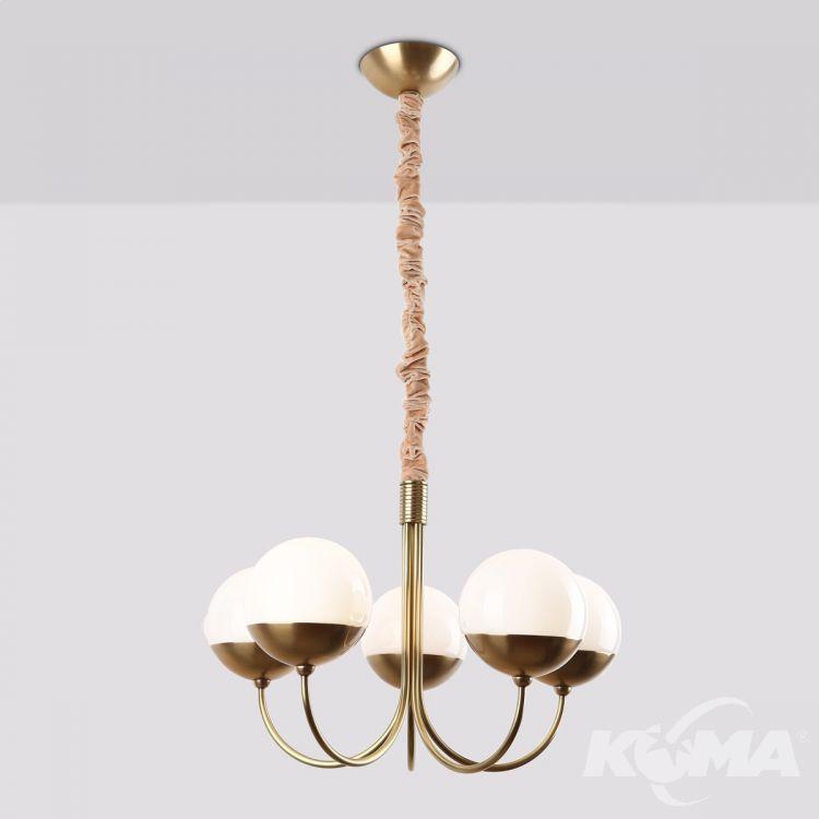Dallas lampa wisząca 5x40W E14 230V złota