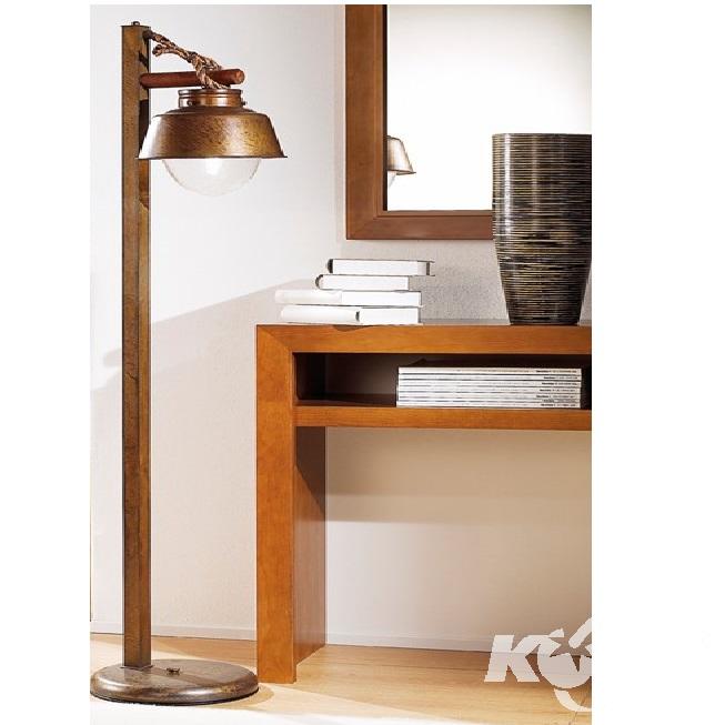 lampa podlogowa E2760W ziemisty brąz/szkło bąbelkowe Amarras LUSTR ARTE