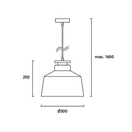 Nube lampa wisząca 1x60W E27 230V biała