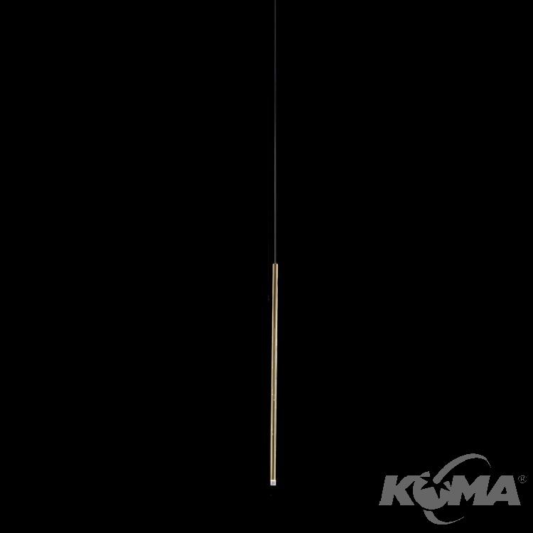 A-Tube lampa wisząca 90cm 2.5W LED 230V złota