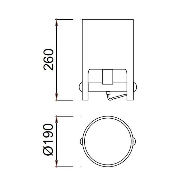 Cube Small lampa stołowa 1x40W E27 230V biała-elementy drewna