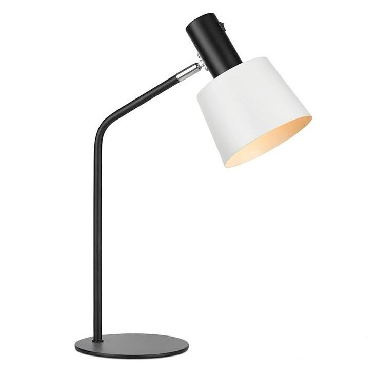 Bodega lampa stołowa 1x60W E27 230V czarno-biała