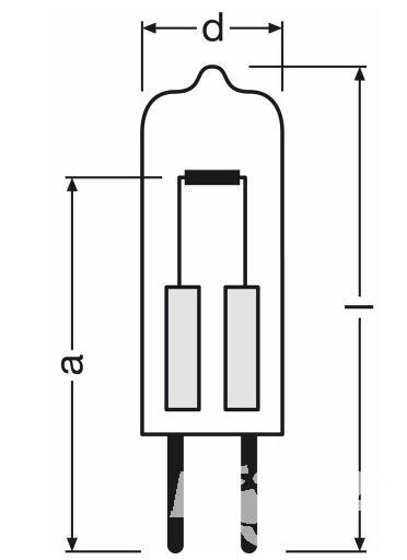 Osram Żarówka halogenowa 1x5W G4 12V 2700K