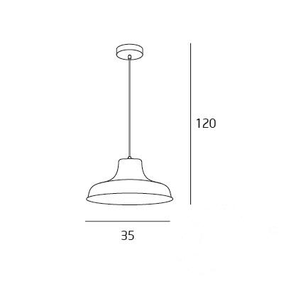 Pino lampa wisząca 1x60W E27 230V czarna