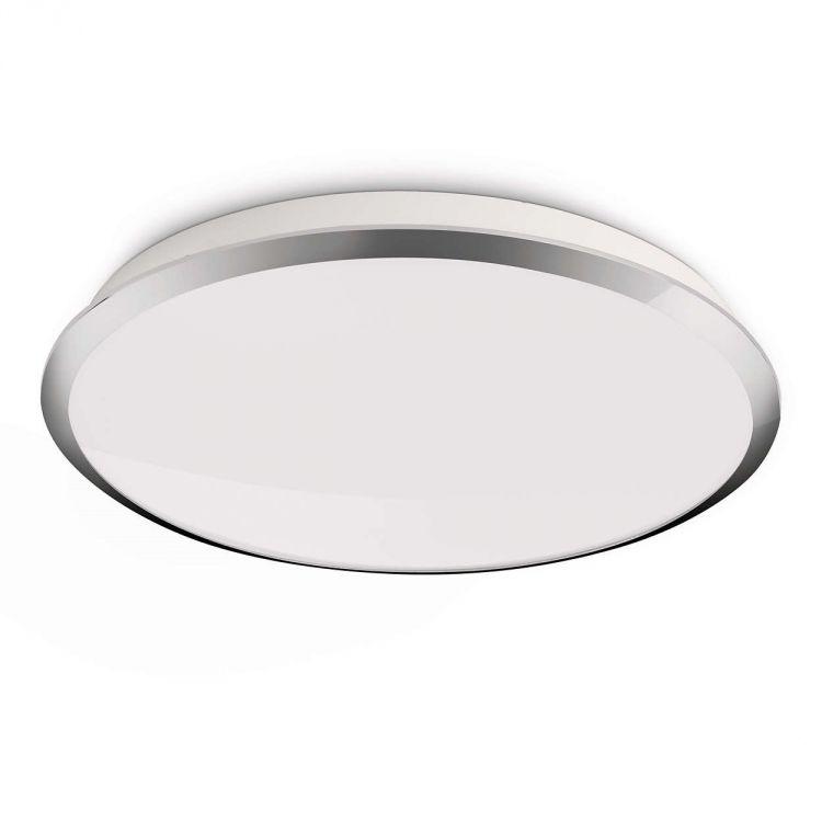 Denim plafon 7,5W LED 230V biały + elementy chromu
