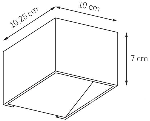 Mistif kinkiet 1x5W 10.25x10cm biały