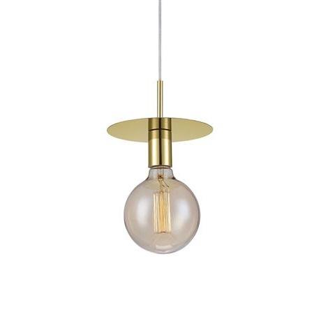 Disc lampa wisząca 1x60W E27 230V mosiądz