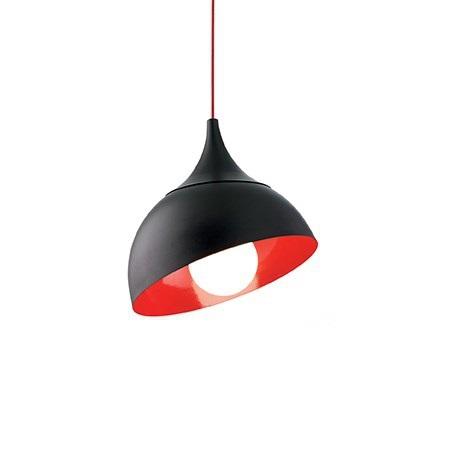 Stelo lampa wisząca 1x60W E27 230V czarno-czerwona