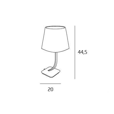 Denver lampa stołowa 1x40W E27 230V chrom + czarny abażur