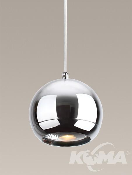 Silver lampa wisząca 1x75W EES111 230V chrom