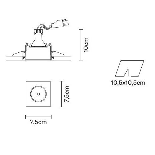 Tools oprawa wpuszczana bezramkowa 1x50W GU10 230V biała
