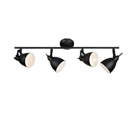 Fjallbacka lampa sufitowa reflektor 4x40W E14 230V czarny mat