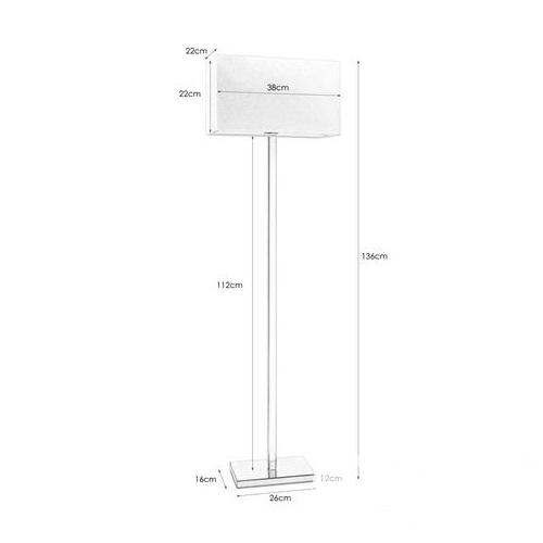 Savoy lampa podłogowa 1x60W E27 230V chrom + biały abażur
