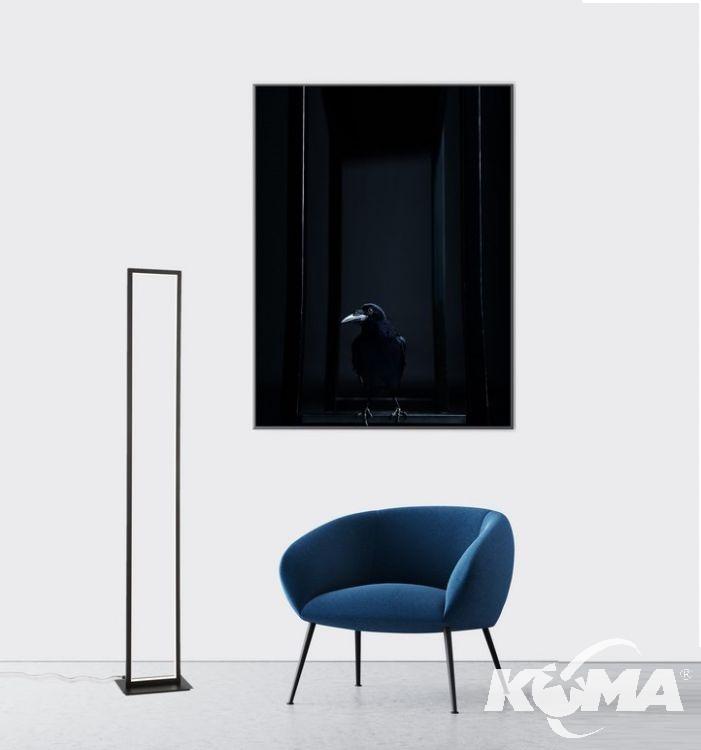 lampa podłogowa czarna Wenna