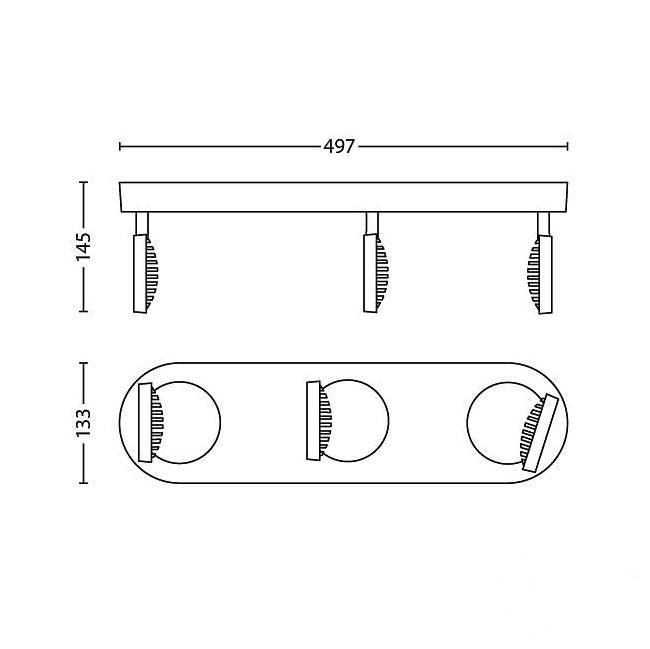 Scope reflektor-spot 3x4,5W LED 230V biały