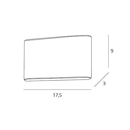 Zone kinkiet łazienkowy 2x4W LED 3000K 230V biały