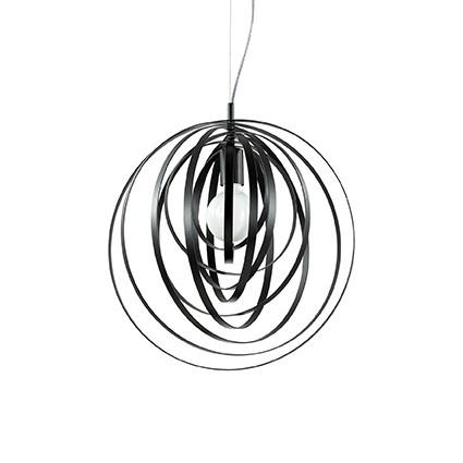 Disco lampa wisząca 46cm 1x60W E27 230V czarna