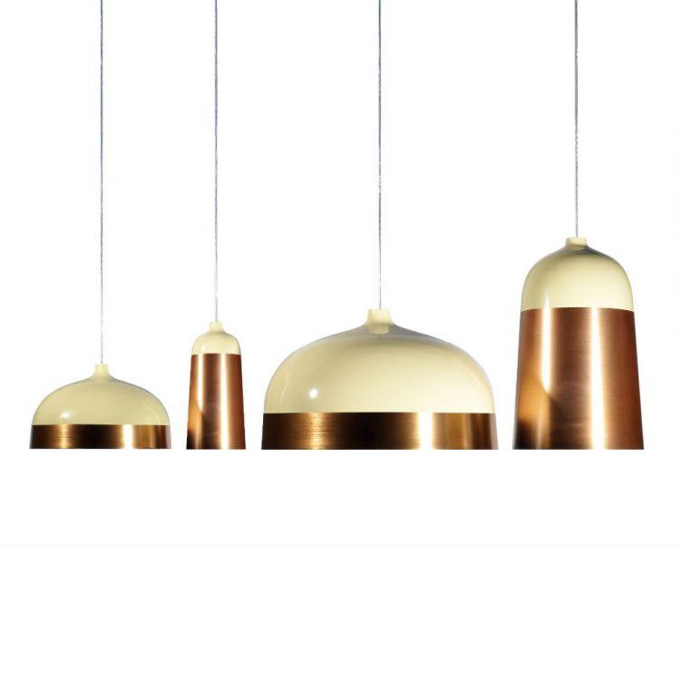 Glaze 14 lampa wisząca 1x40W E27 230V kremowo-miedziana