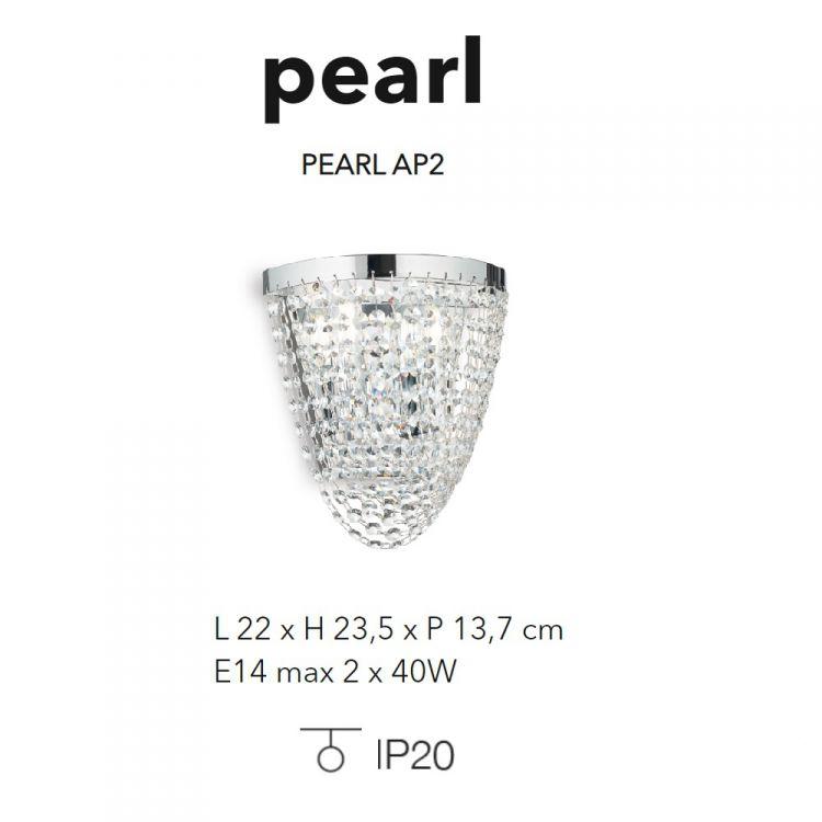 ap2 kinkiet chrom Pearl IDEAL LUX