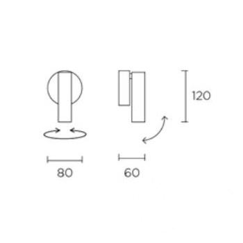 Stylus kinkiet / reflektor czarny 1x7.5W LED 230V