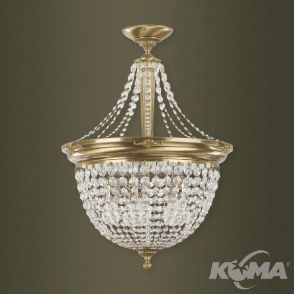 plafon patynowy z kryształami  Fontana KUTEK