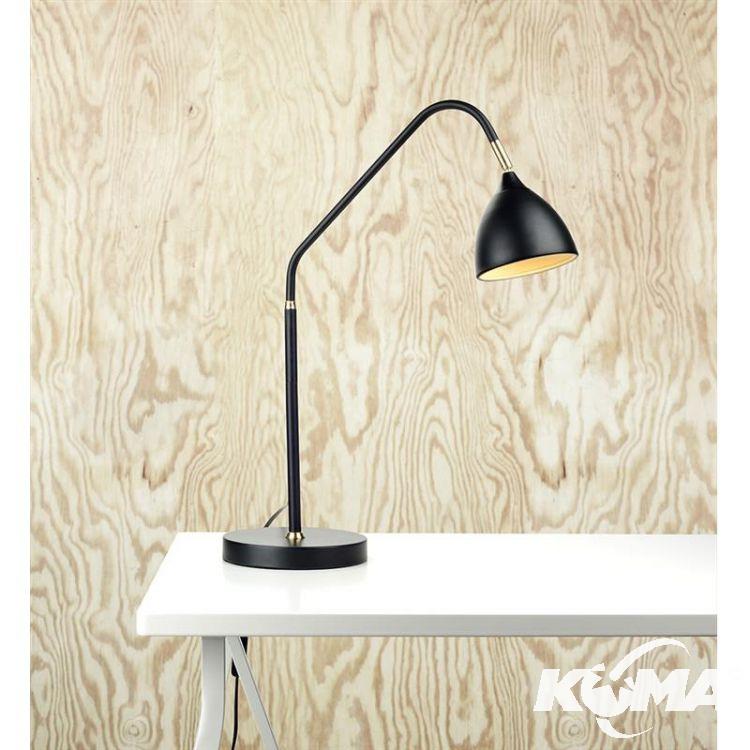 Valencia lampa stołowa 1x6W GU10 230V czarna + złote elementy