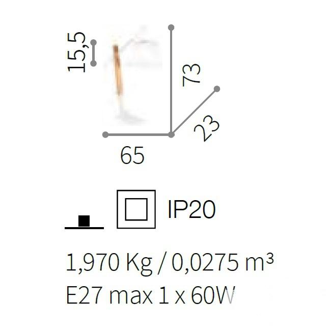 pt1 lampa stołowa biała Eminent IDEAL LUX