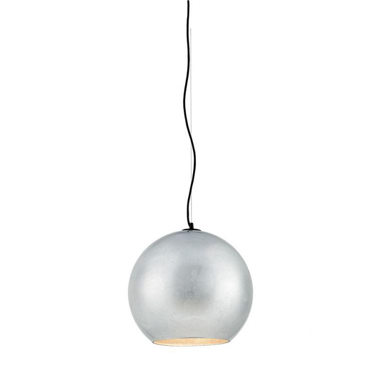 Moon lampa wisząca 1x60W E27 230V srebrna mat