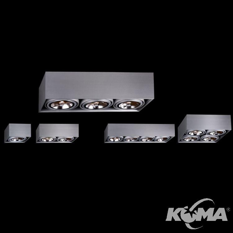 Box lampa sufitowa 1x50W G53 230V czarna