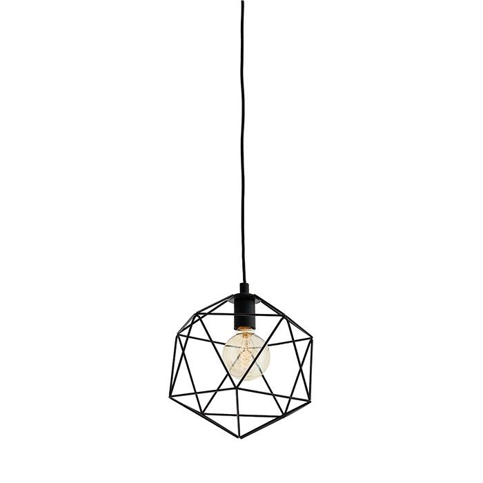 Wire S lampa wisząca 1x60W E27 230V czarna