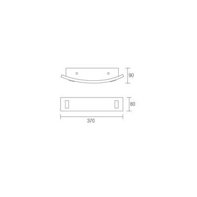 Menorca kinkiet 1x20W E27 230V chrom/wenge