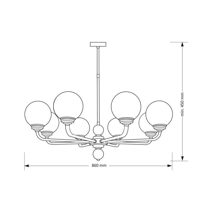 lampa wisząca Aba-zw-8(p) KUTEK MOOD